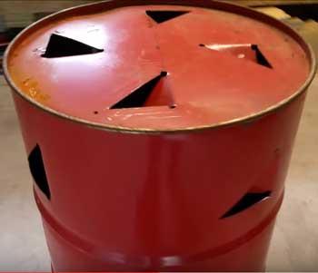 burn barrel construction